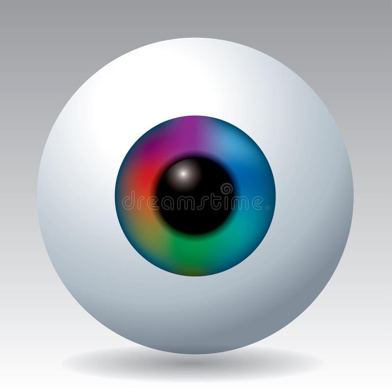 Iris eye. Vector iris of the eye in rainbow colors royalty free illustration