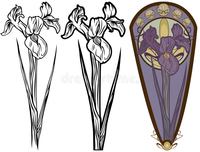 Download Iris flower stock vector. Image of ornaments, pastel - 28029693