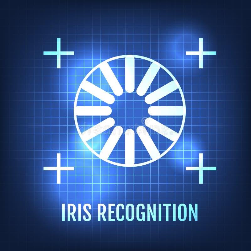 Iris Recognition Concept Icon Oogidentificatie royalty-vrije illustratie