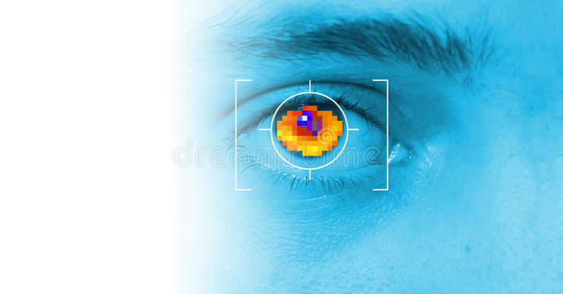 Download Iris security scan stock image. Image of look, data, interface - 15389861