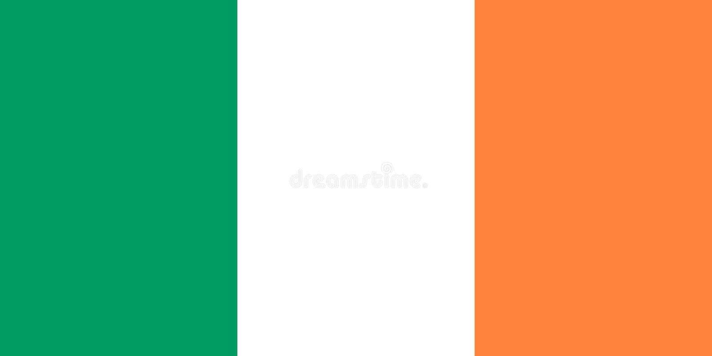 Irische Flagge vektor abbildung