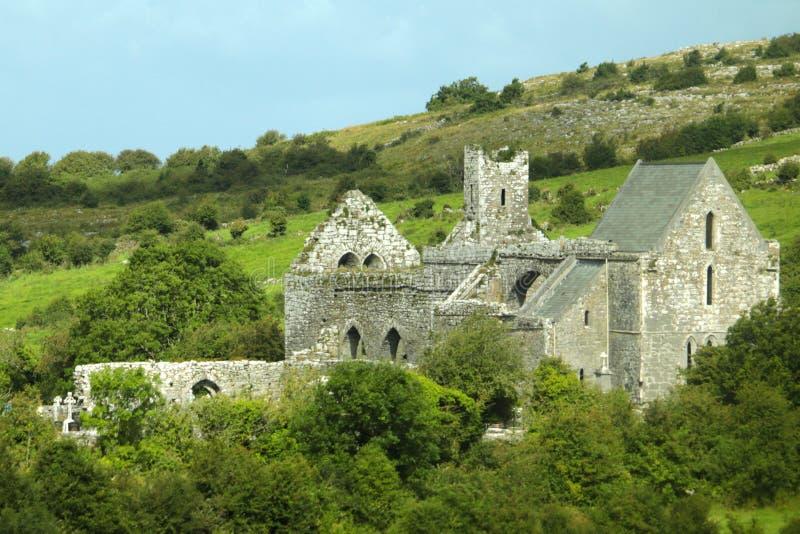 Irische Landschafts-Ruinen lizenzfreies stockbild