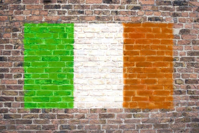 Irische Markierungsfahne stockfotos