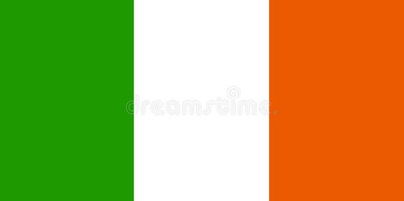 Irische Markierungsfahne stock abbildung