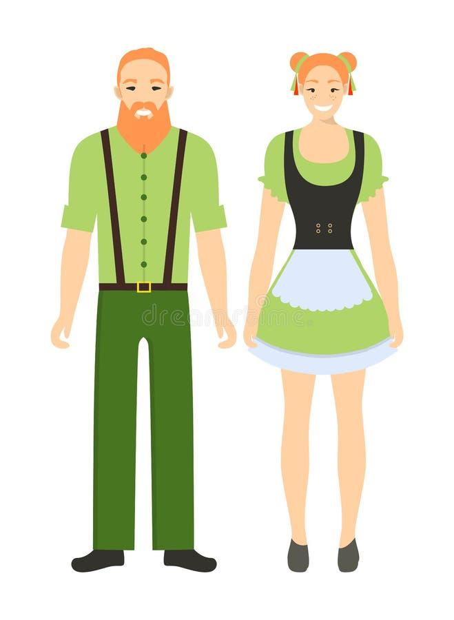 Irische Paare lizenzfreie abbildung