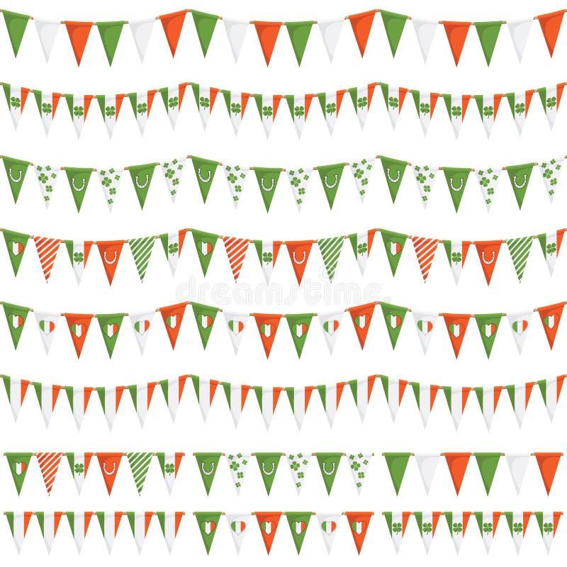 Irische Parteiflagge lizenzfreie abbildung