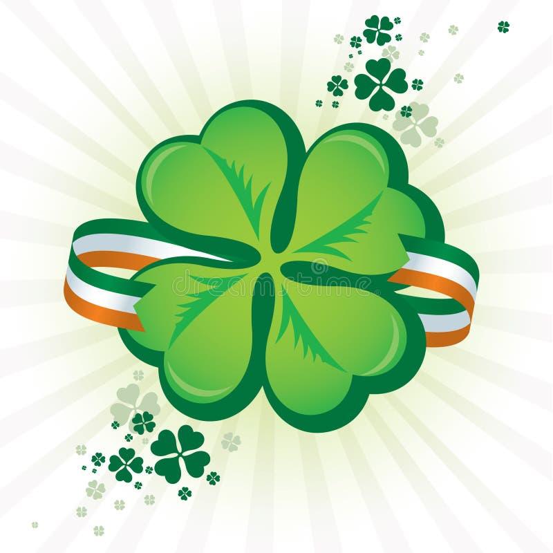 Irische Shamrock-Ikone stock abbildung