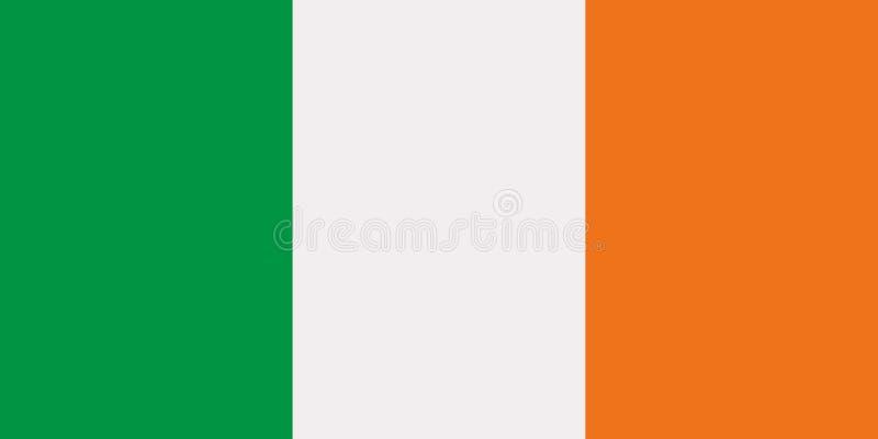 Irischer Flaggenvektor lizenzfreie abbildung