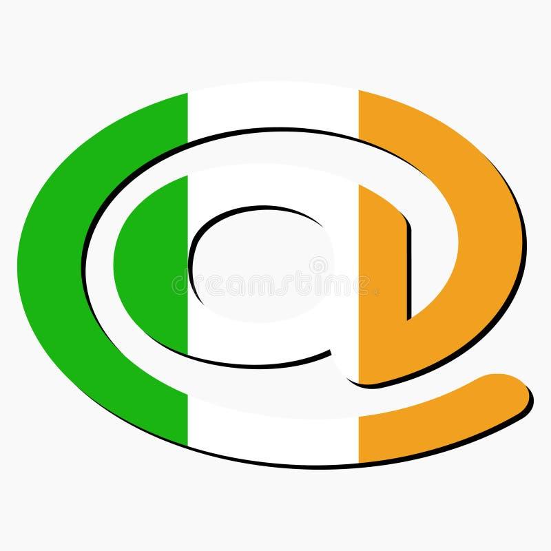 Irisches email address am Symbol vektor abbildung