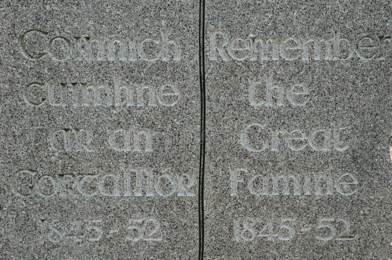 Irisches Hunger-Denkmal lizenzfreie stockbilder