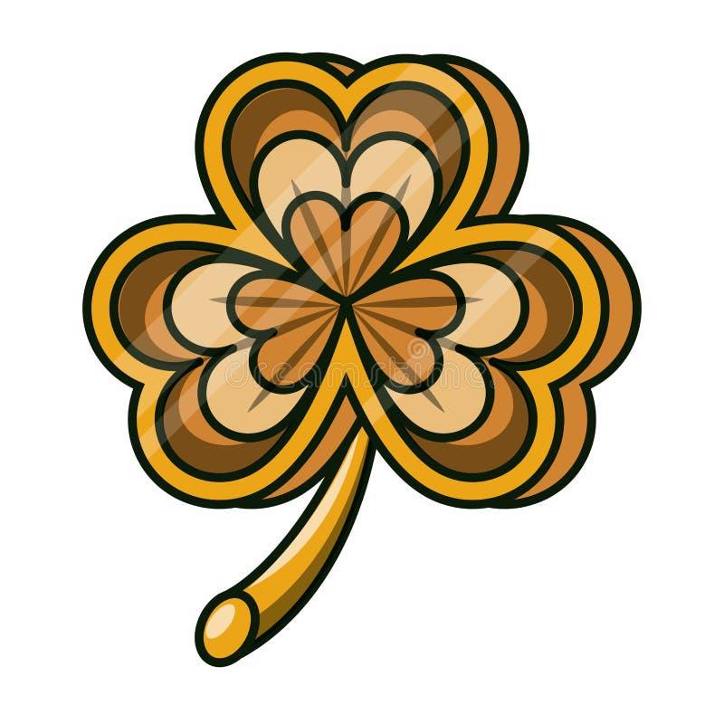 Irisches Symbol des Klees lizenzfreie abbildung
