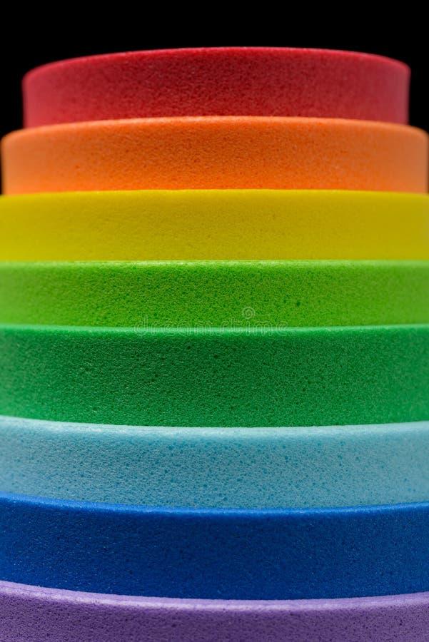 Iriserende kleuren van cellulair rubber stock foto
