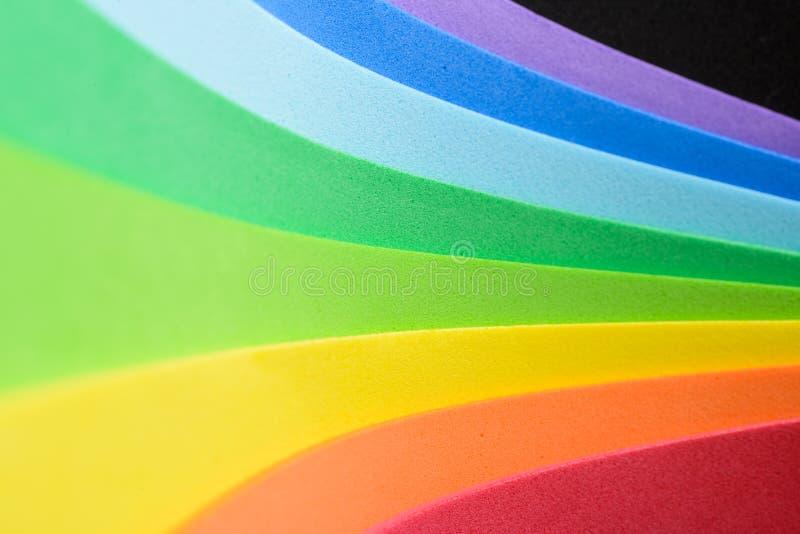 Iriserende kleuren van cellulair rubber stock fotografie