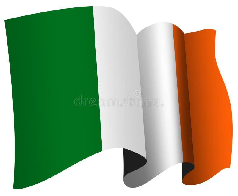 irish флага иллюстрация вектора
