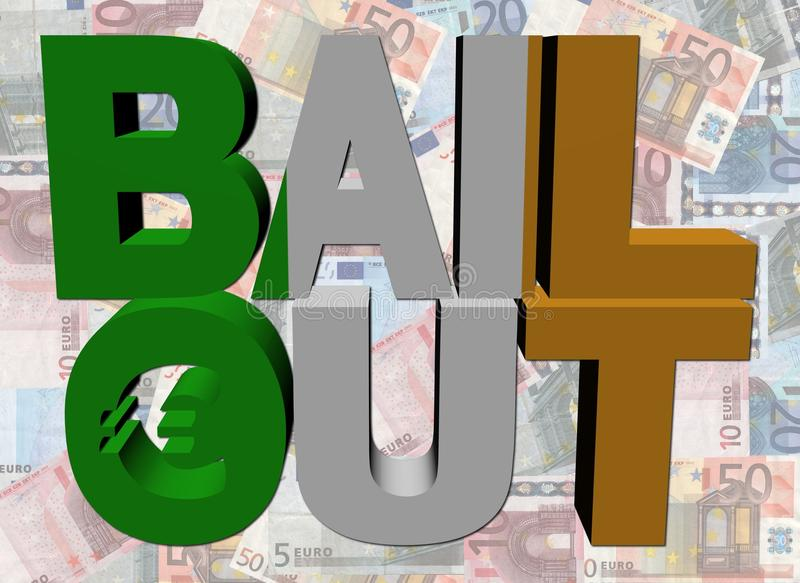 Irish Bail Out Text On Euros Stock Images