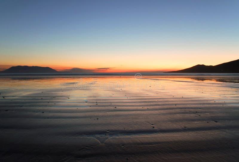 Irish beach at sunset royalty free stock image