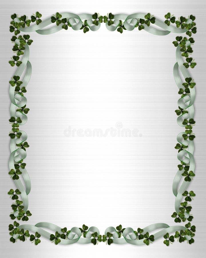 Irish border wedding invitation stock photo