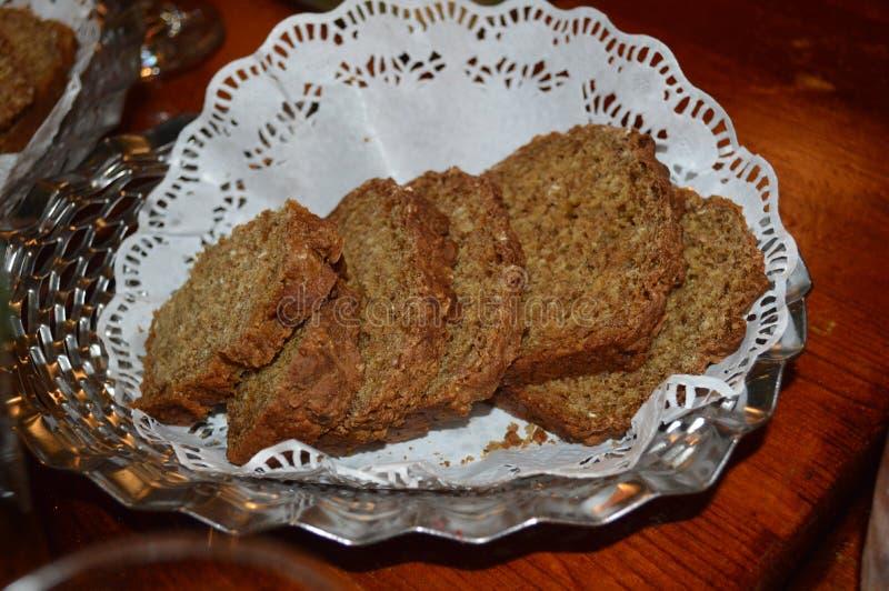 Irish brown bread royalty free stock photo