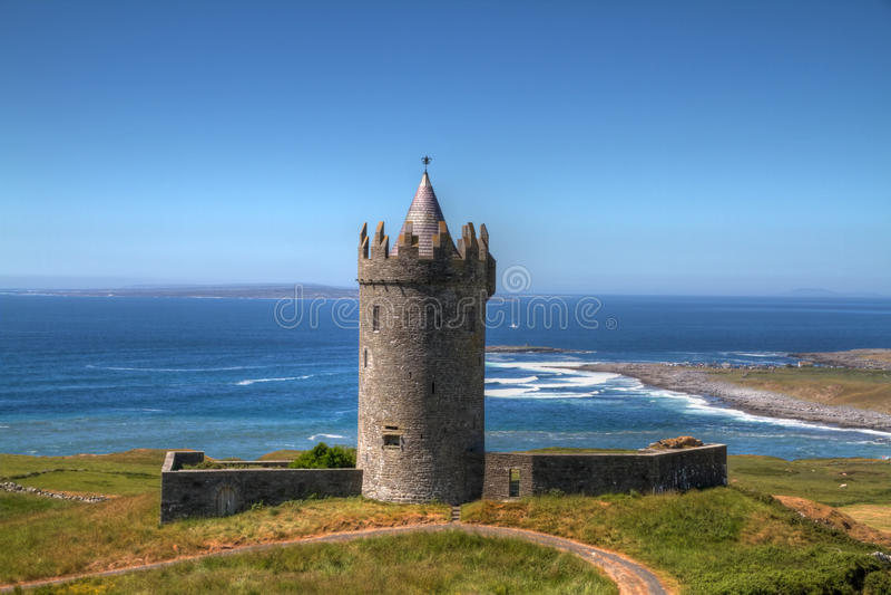 Download Irish castle stock image. Image of postcard, scenery - 14900675