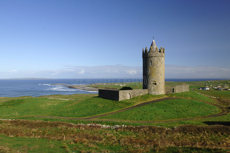 Download Irish Castle stock image. Image of glow, fortress, crusades - 825849