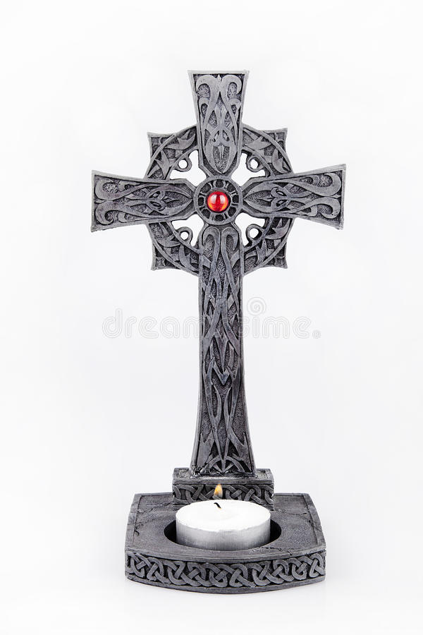 Irish celtic cross stock photo