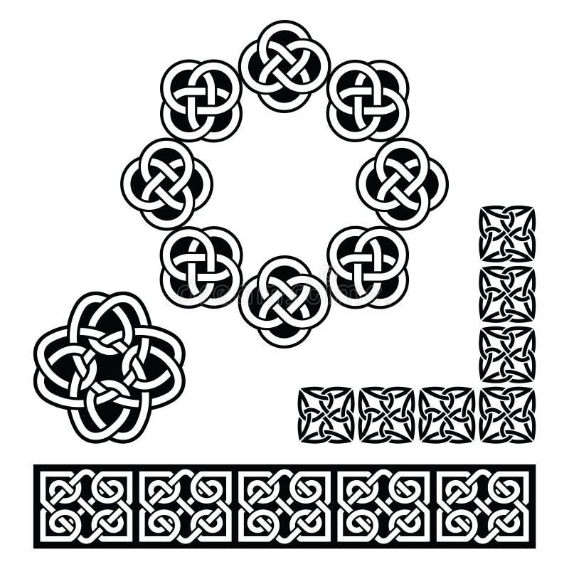 Irish Celtic design - patterns, knots and braids royalty free illustration