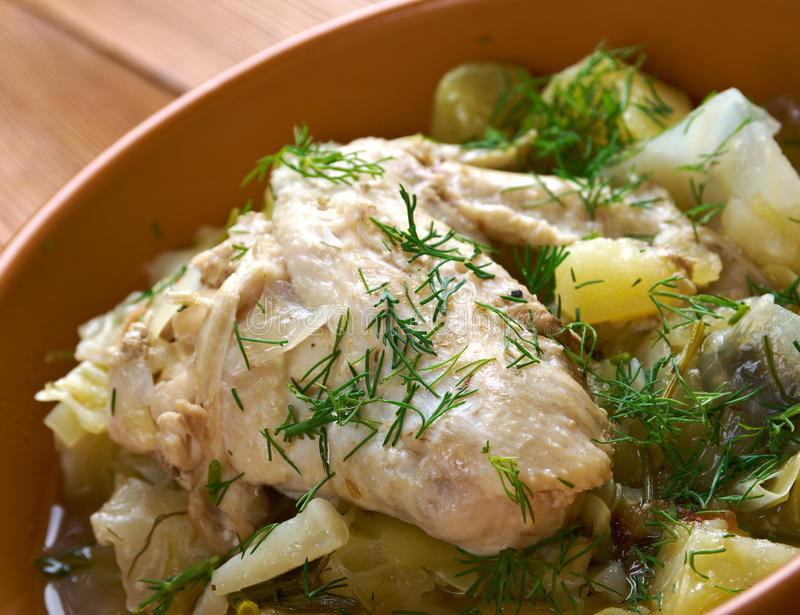 Irish chicken stew stock photo