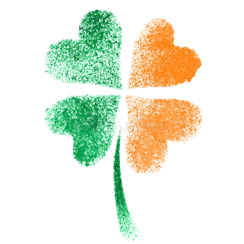 Irish clover - ireland flag stock illustration