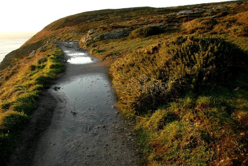 Irish coast line path