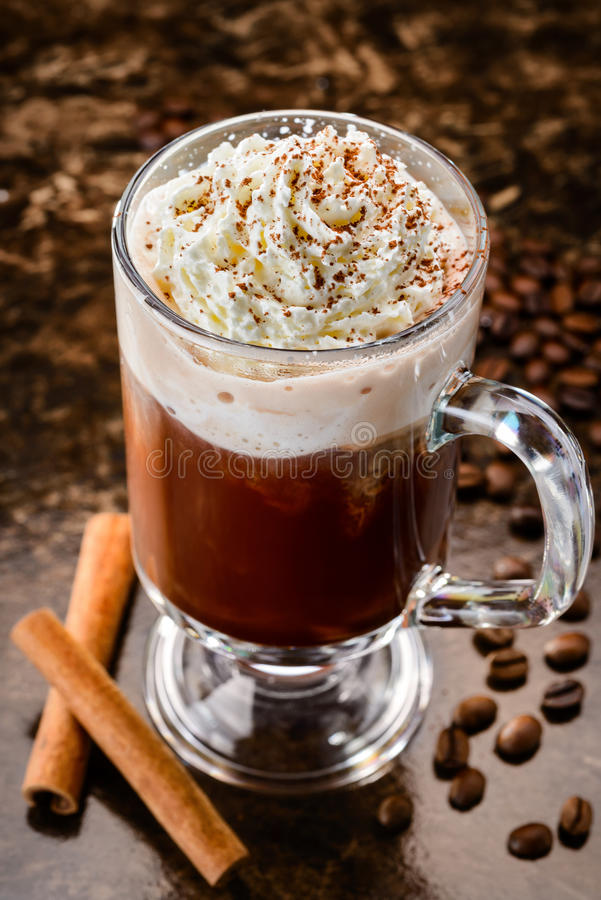 Irish coffee royalty-vrije stock foto