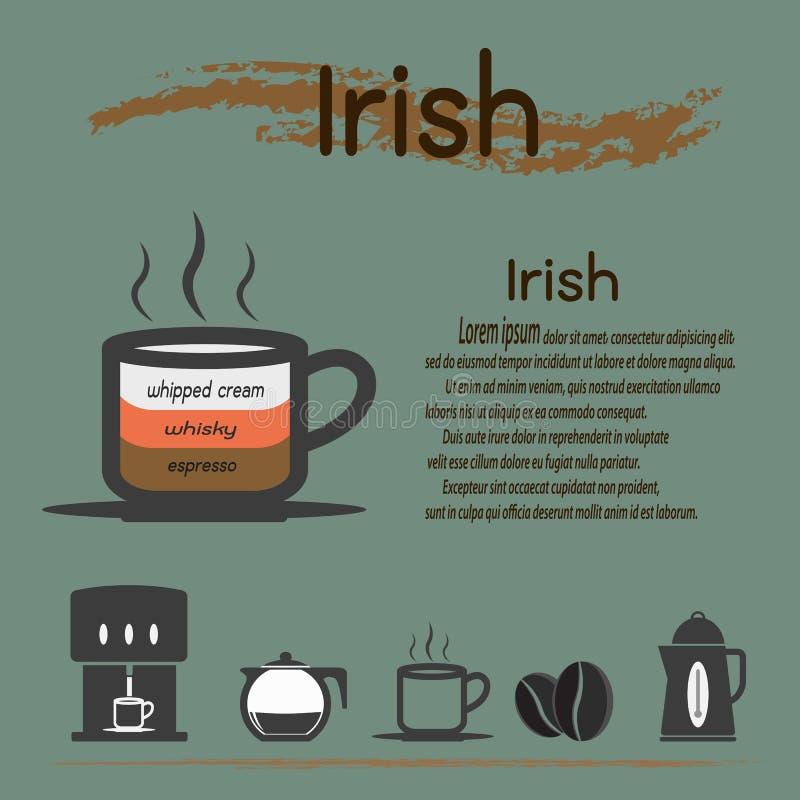 Irish coffee illustrazione vettoriale