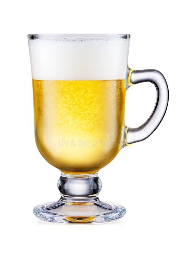 Irish Coffee Cup met bier geïsoleerd op witte achtergrond royalty-vrije stock foto