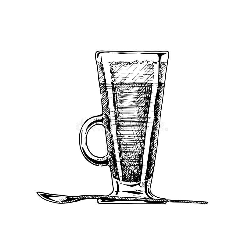 Irish coffee glass royalty free illustration