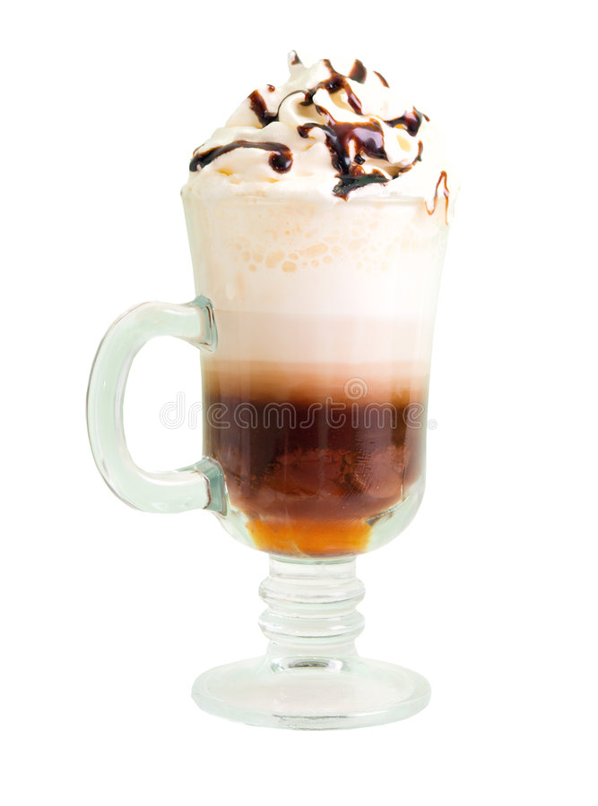 Irish coffee isolated stock image