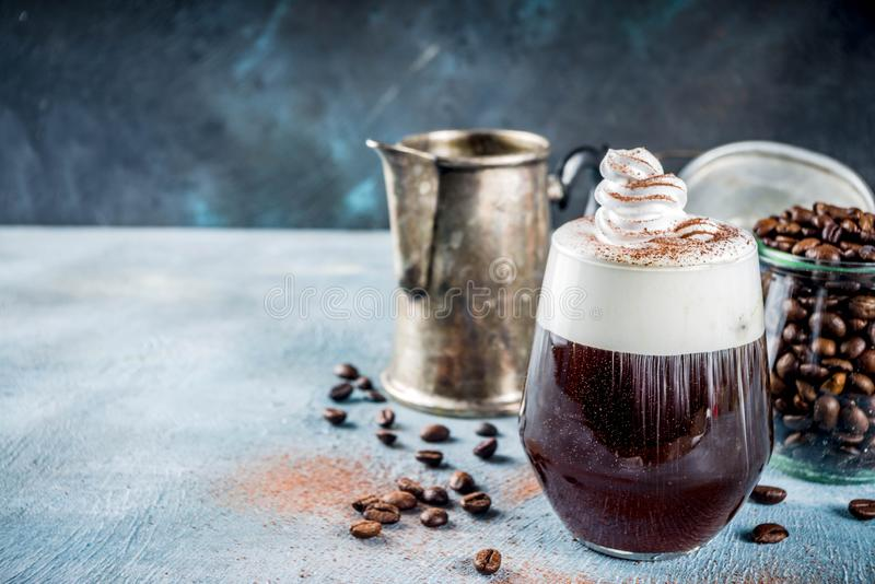 Irish coffeecocktail stock fotografie