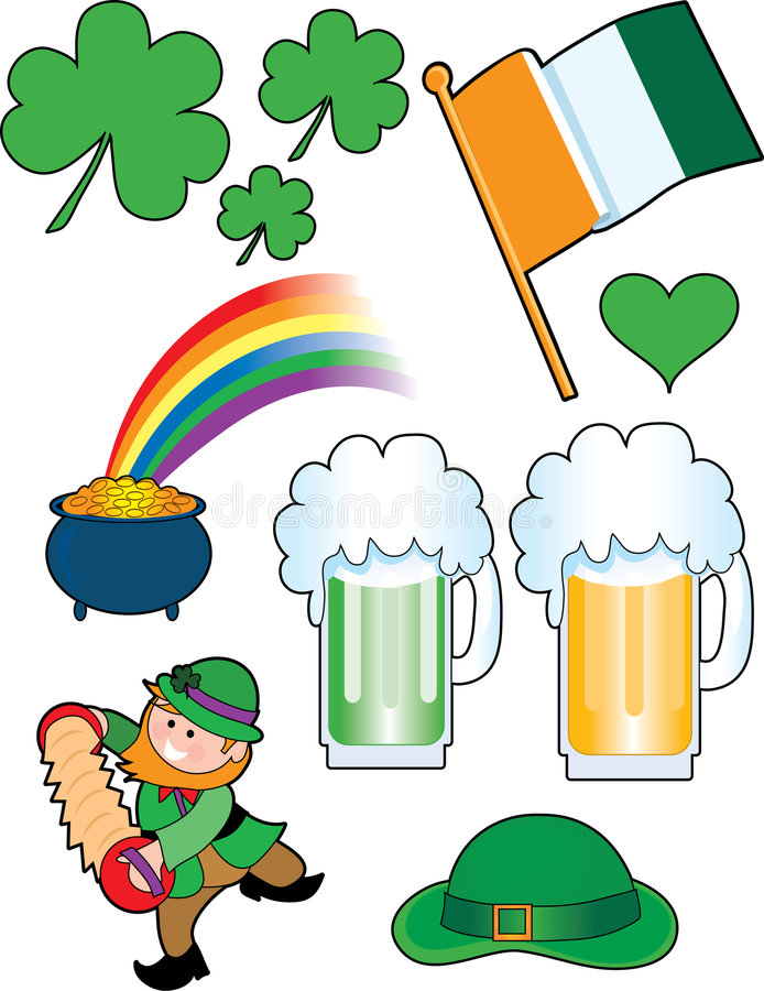 Irish Collage. A great collection of cool little Irish images vector illustration