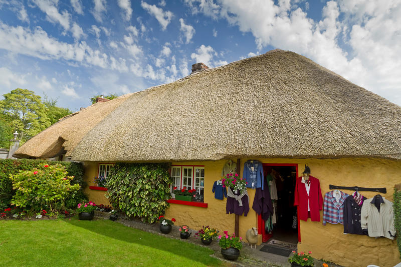 Download Irish cottage house stock image. Image of garden, small - 20104225