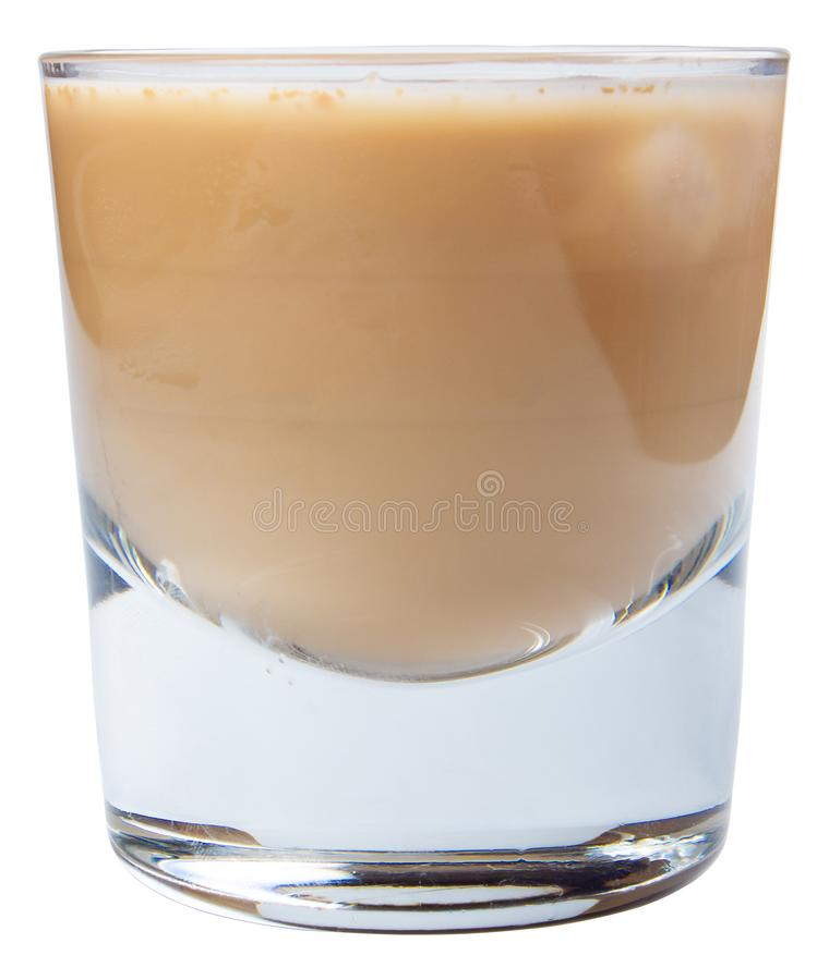 Irish Cream Alcohol Cocktail With Ice Stock Photo