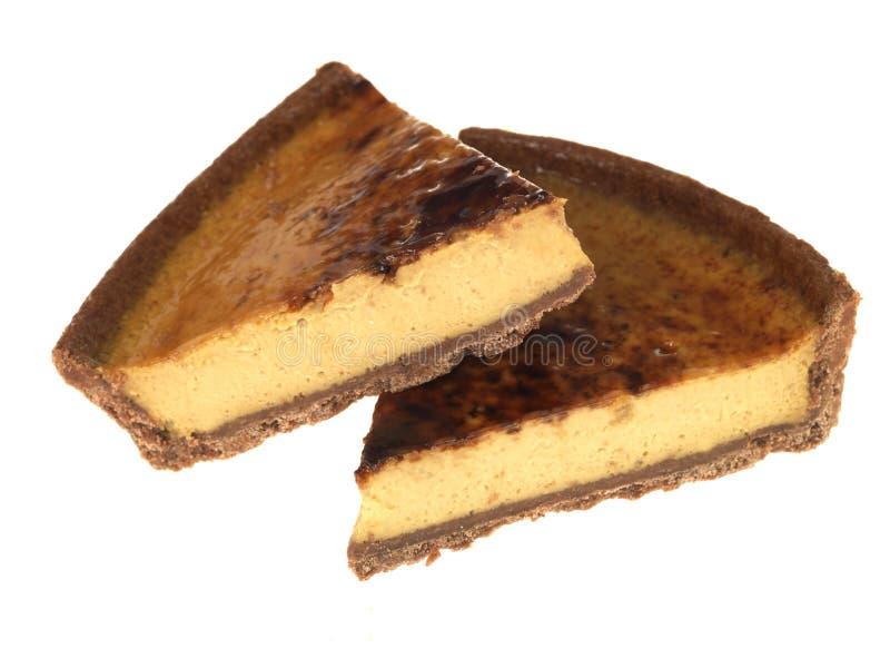 Irish Cream Tart Slices royalty free stock images