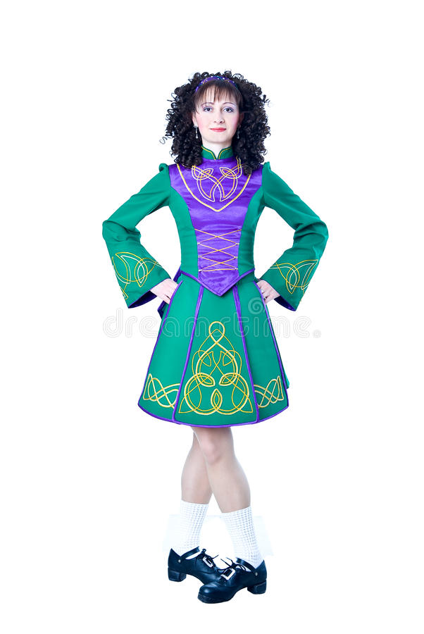 Irish dancer in the hard shoes