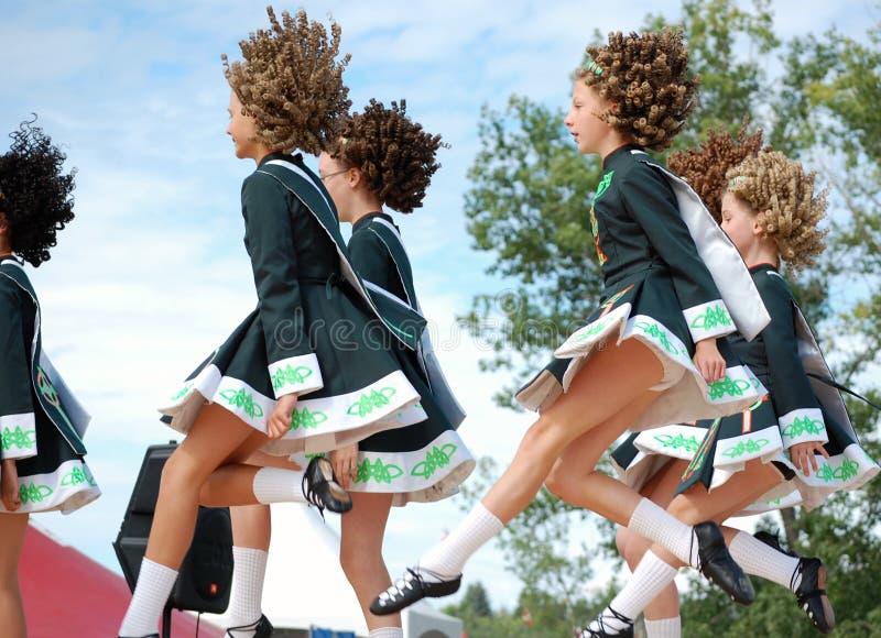 Irish Dancers Dancing. At Edmonton's Heritage Festival royalty free stock photography