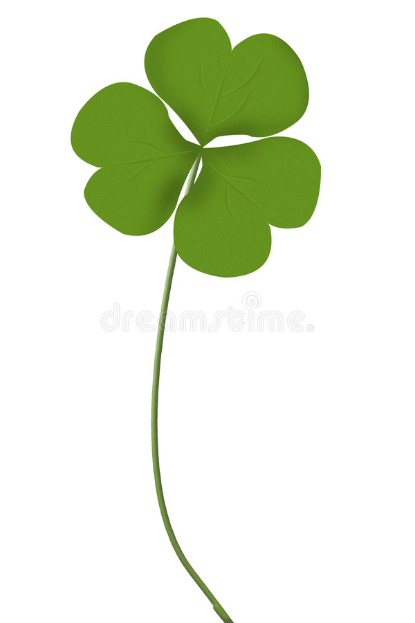 Irish do dia do st patrick do trevo ilustração stock