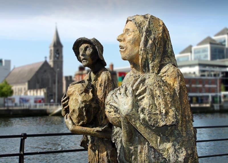 Irish Famine Figures stock photo