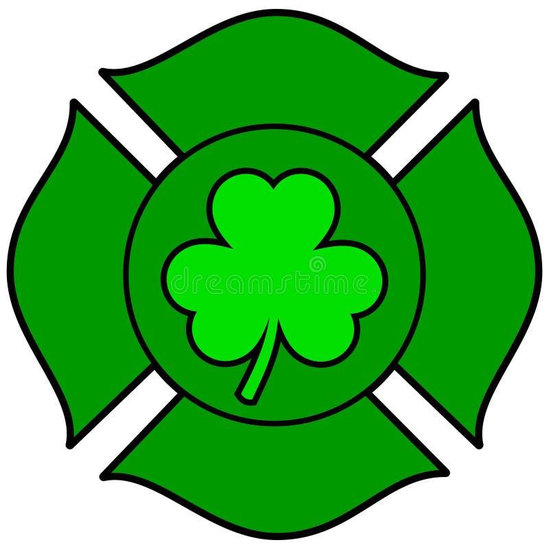 Irish Firefighter Maltese Cross vector illustration