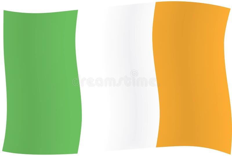 Irish flag vector illustration