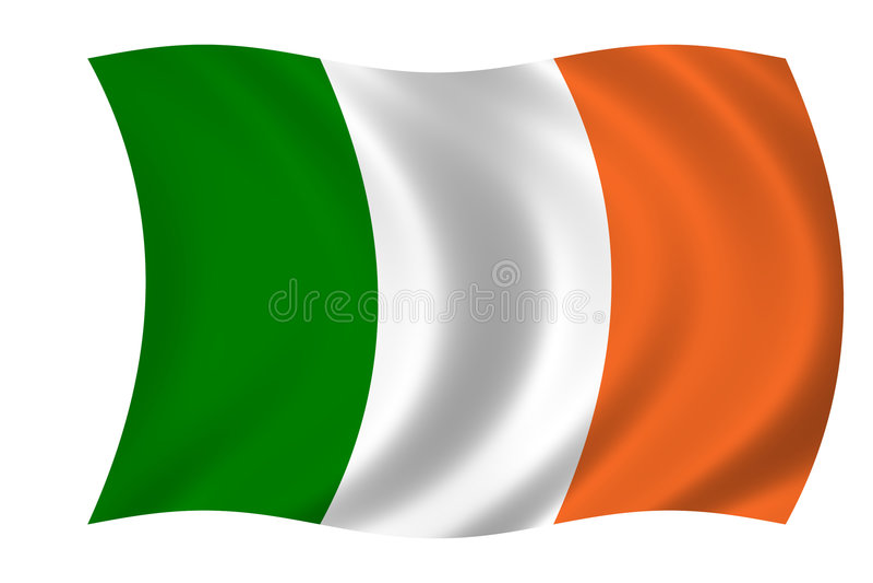 Irish flag. Waving flag of Ireland - irish flag