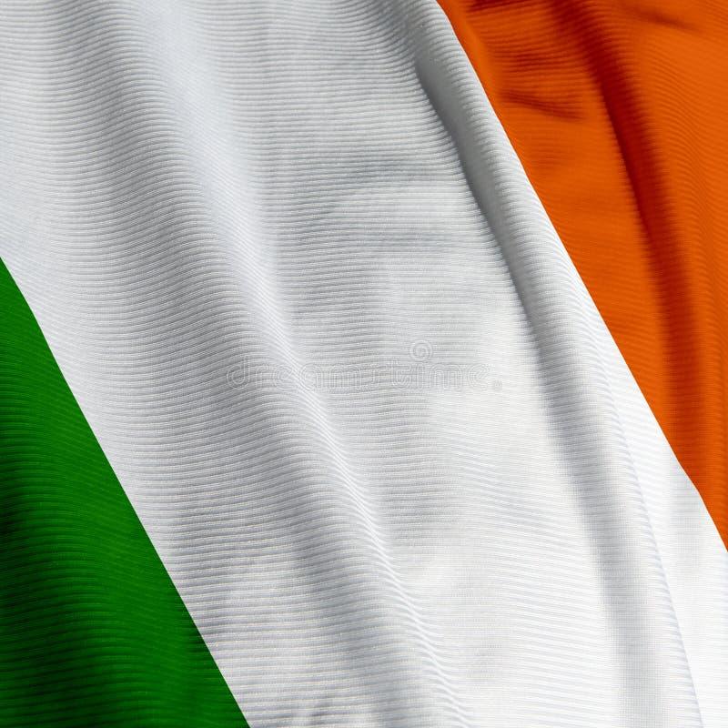 Irish Flag Closeup stock photography