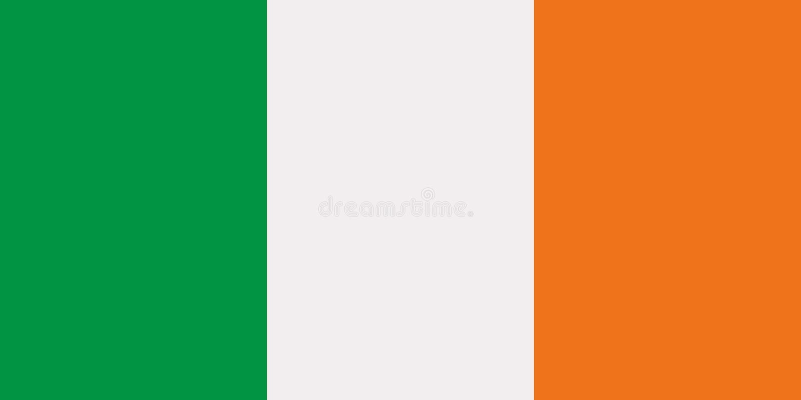Irish flag vector royalty free illustration