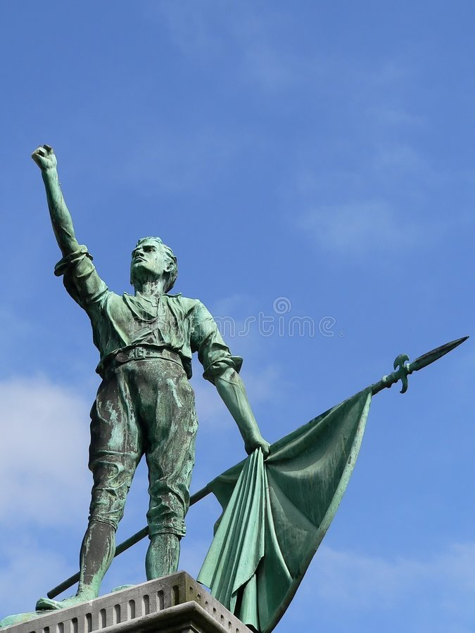 Irish Freedom Fighter stock photography
