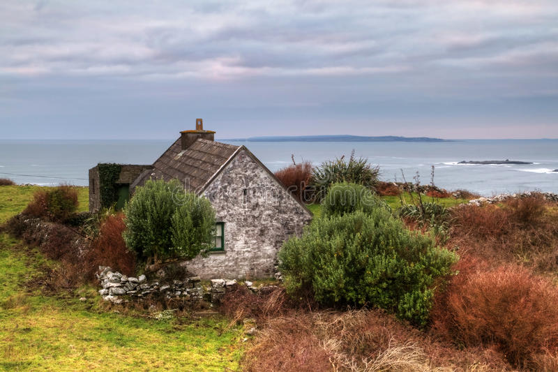 Download Irish house stock photo. Image of burren, cloudscape - 17750694